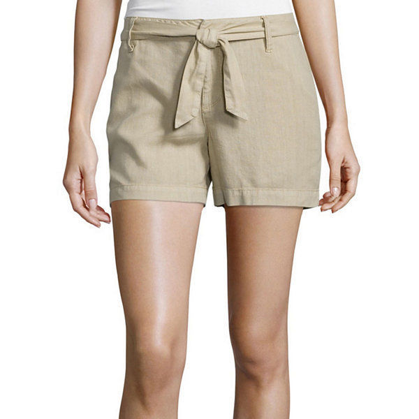 Primary image for a.n.a Tape Belted Twill Shorts Size 6 New Msrp $36.00 Khaki