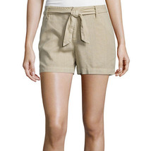 a.n.a Tape Belted Twill Shorts Size 6 New Msrp $36.00 Khaki - $14.99
