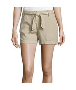 a.n.a Tape Belted Twill Shorts Size 6, 12 New Msrp $36.00 Khaki - $14.99
