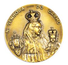 1974 Moura Festas October 4-7 Em Honra De N Senhora Do Carmo Medal 2-3/4... - $49.49