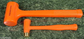 2 Dead Blow Hammers With Brass Head Mallet Tool New - $29.99