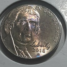 2018 ARTIFICIAL TONED FIVE CENT NICKEL COIN C1-183 - $9.64