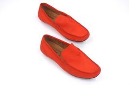 New Alfani Orange Suede Mocc ASIN S Kendric Loafers Shoes 9**FLOOR Sample - $14.85
