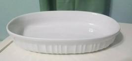 Vintage Corning Ware French White 23 oz.Oval Casserole bakinh bowl dish,... - $14.93