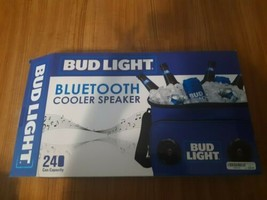 Bud Light Bluetooth Cooler Speaker Rechargeable 24 Can Heat Sealed Pool ... - $39.55