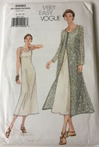 Vogue 9990 Pattern Misses Dress and Jacket OVERDRESS Misses Sizes 8-12 - $12.99