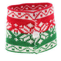 Snowflake #1 Christmas Knitted Mug Cup Warmer Cover Holder Decoration - $12.00