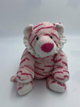 Ty Pluffies Baby Pink White Growlers The Tiger Plush Stuffed Animal 2006 - $44.99