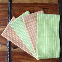 Green Caramel 16 inch Cotton Napkin Set of 4 - Sustainable Threads (L) - $22.50