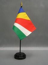 "Seychelles 4X6"" Table Top Flag W/ Base New Desk Top Handheld Stick Flag - $4.95"