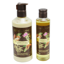 YVES ROCHER Les Plaisirs Nature Argan Rose Hammam Body Lotion and shower... - $36.62