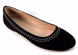 Wanted Rumors Black Suede Round Toe Ballet Flats - $31.20