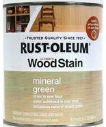 1 Can Rust-Oleum 32 Oz Ultimate Wood Stain 271091 Mineral Green Dries In... - $21.99