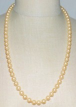 """VTG G Silver Clasp Faux Glass Pearl Choker Necklace 26"""" - $29.70"""