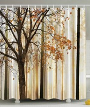 Fall Trees Print Polyester Fabric Decorative  Shower Curtain  (New) - $24.70