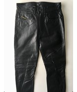 Black Leather Pants - Diesel, Size 27 - £143.88 GBP