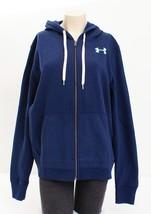 Under Armour Blue Favorite Fleece Full Zip Hooded Sweatshirt Hoodie Wome... - $59.99
