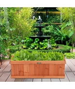 """2' x 4"""" Wooden Decorative Planter Box for Garden Yard and Window - £85.72 GBP"""
