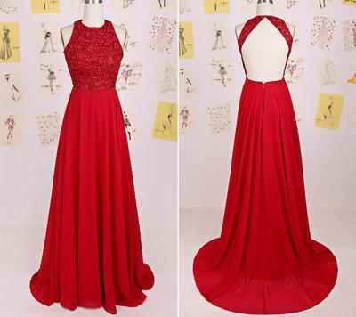red Prom Dresses,charming Prom Dress,Dresses For Prom,backless Prom Dresses