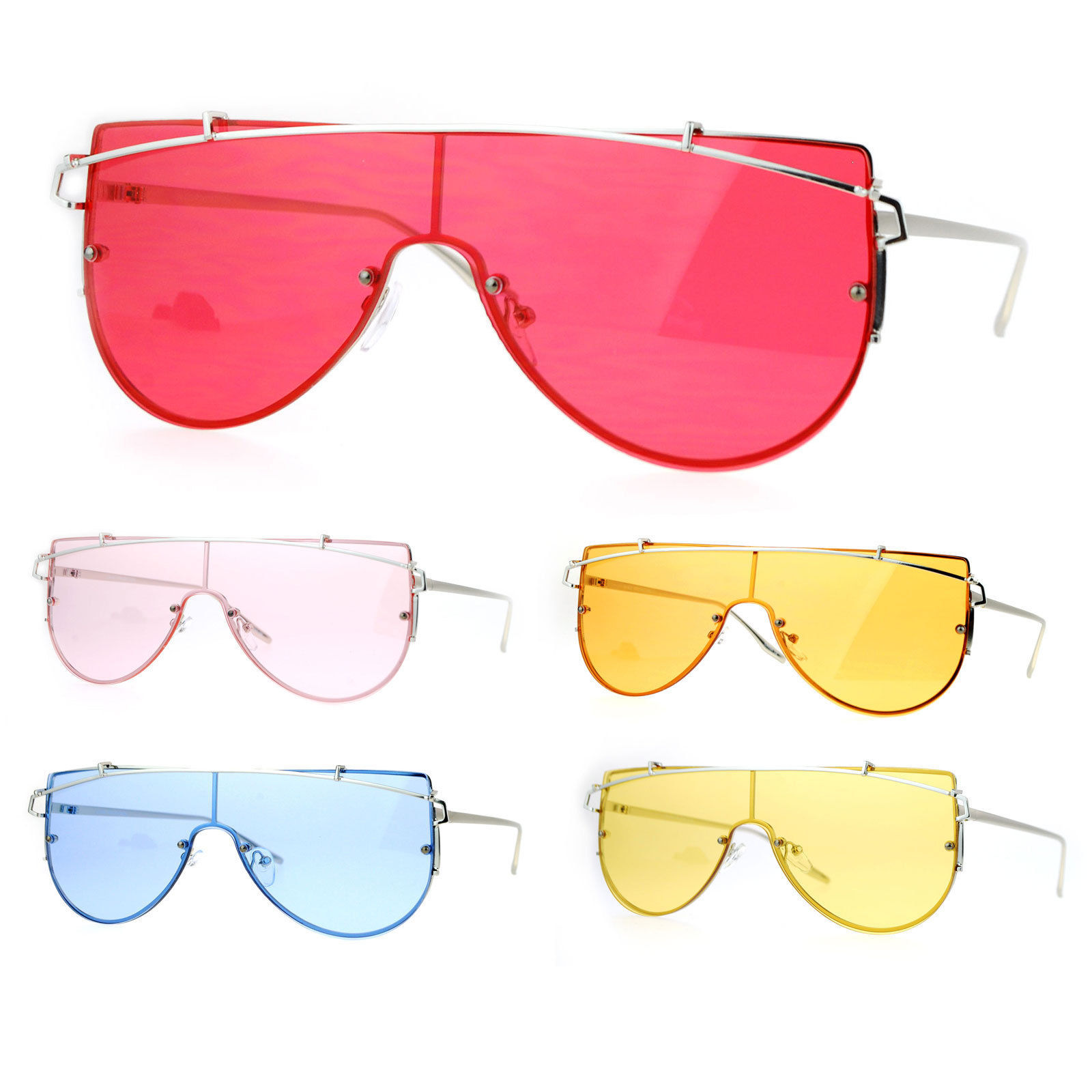 3d0e7c5a2c7d7 SA106 80s Disco Bright Color Lens Rimless and 50 similar items
