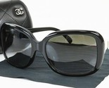 Authentic CHANEL Black and White CC Logo Bow Sunglasses #39222