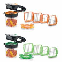 4 Blades Nicer Quick Stainless Steel Vegetable Dicer Chopper Multi-funct... - $16.05