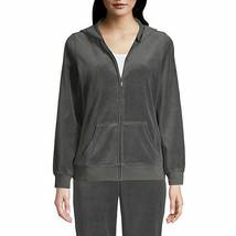 St. John's Bay Women's Active Long Sleeve Velour Hoodie Jacket 1X Vienna... - €26,76 EUR