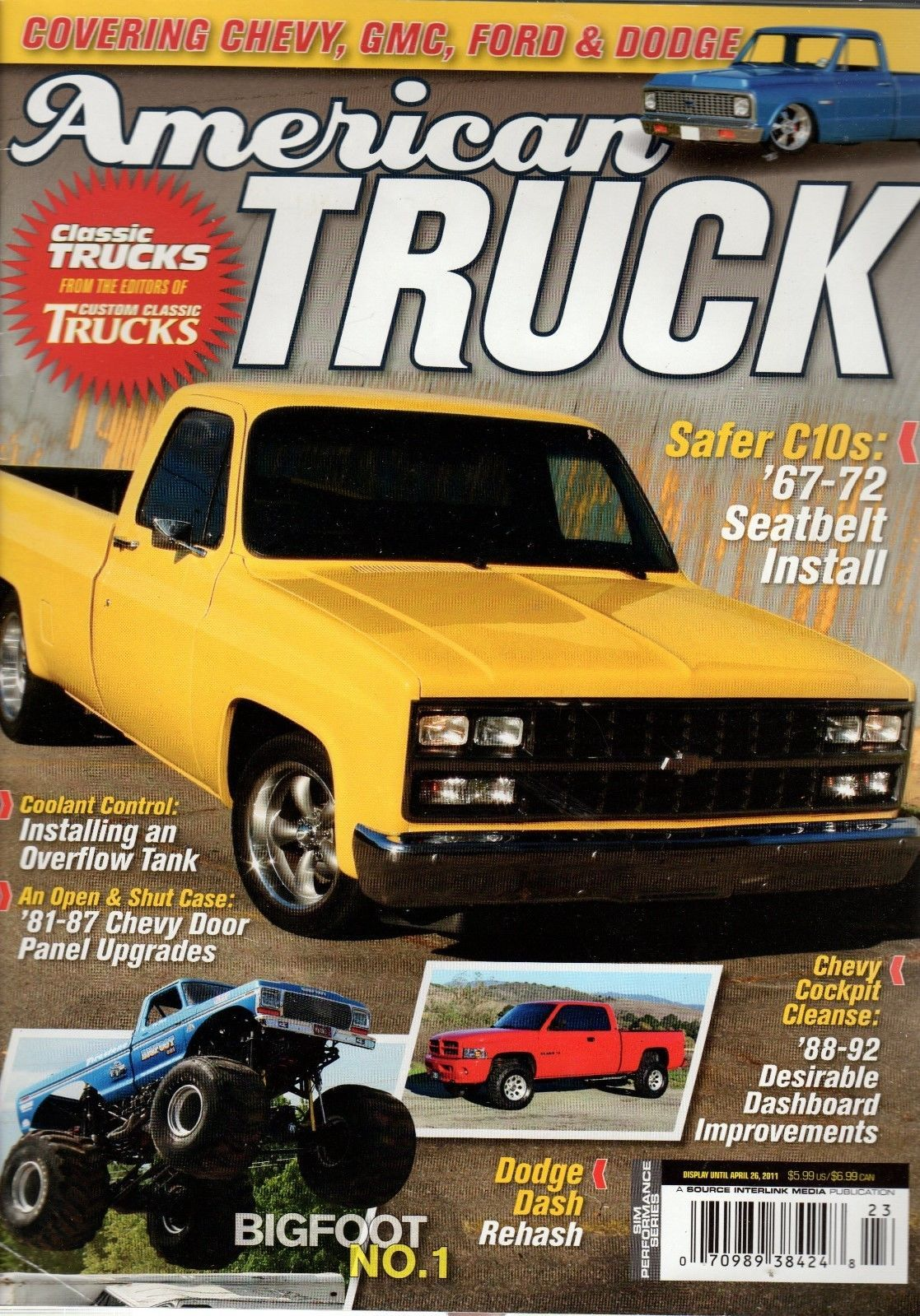 Primary image for American Truck Magazine April 26, 2011 Covering Chevy, GMC, Ford & Dodge