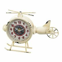Accent Plus White Helicopter Desk Clock 9.5x2x7 - $46.49