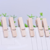 Laundry Clips Clothes Wooden Pins Spring Clothing Clamps Mini Wood Craft... - $6.98