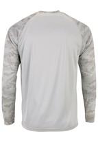 Sun Protection Long Sleeve Dri Fit Aluminum Gray sun shirt Camo Sleeve SPF 50+ image 2