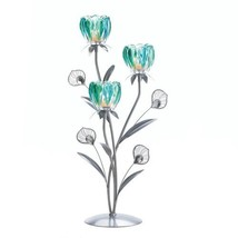 Triple Peacock Bloom Candleholder - $22.99