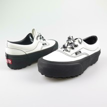 Shoes vans was Lug Platform Sole Black and White Canvas 90s back - $92.60