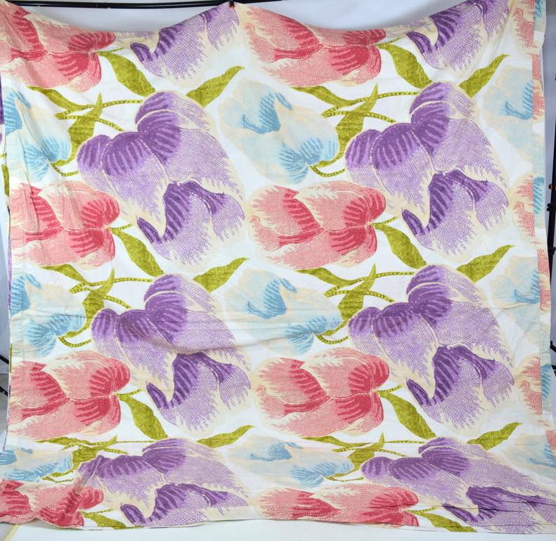 "DIANE VON FURSTENBERG Floral California King Duvet Cover Bed Spread 100"" x 110"""
