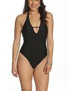 Sun and Sea Womens High Leg Baywatch Style One Piece Swimsuit Black - 12 - $47.66