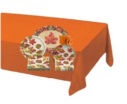 81-piece Colors of the Wind Thanksgiving Tableware Kit – Orange - $26.68