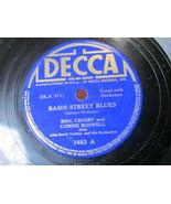"10"" 78 rpm RECORD DECCA 1483 BING CROSBY BASIN STREET BLUES / BOB WHITE - £7.59 GBP"