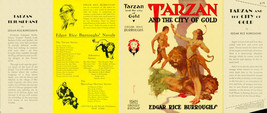Burroughs, Edgar Rice. TARZAN AND CITY OF GOLD   facsimile jacket  1st G... - $21.56