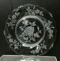 Heisey Rose 1949-1957 8 Inch Salad Plate No Chips  - $14.85