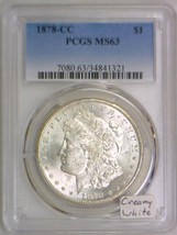 1878-CC Morgan Dollar PCGS MS-63; Creamy White - $544.49