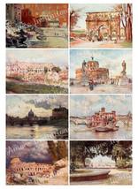 Printable Vintage Rome  Italy Digital Collage Sheet  ATC  JPEG  PDF  Ins... - $2.50