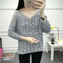 Knitted Sweater Women 2017 Autumn winter cashmere batwing sleeve Split W... - $25.02