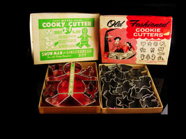 2 sets 1950s Cookie Cutters - gingerbread man - Stocking stuffer - metal... - $45.00