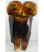"Vintage Tin Metal Owl Wall Hanging SculptureArt 15"" - $29.69"