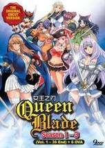 Queen's Blade (Season 1 - 3) +Bonus 6 OVA SHIP FROM USA