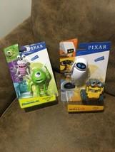 Disney Pixar Monsters Inc & Wall E Movie Mike Wazowski Boo Wall E  Eve Figures - $49.50