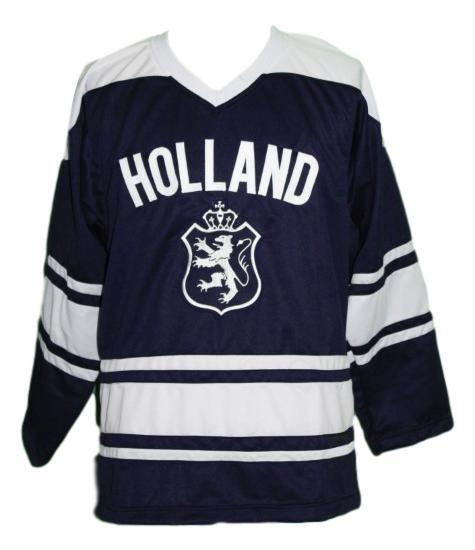 Custom Name # Team Holland Hockey Jersey New Navy Blue Any Size