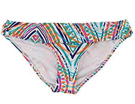 Apt 9 Swim Bikini Scoop Hipster Swimwear Fold Over Bottom White Multi Color - $9.99
