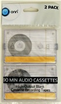 ONN 90 Minute audio Cassettes High-Output Blank Cassette Recording Tapes (6) image 1
