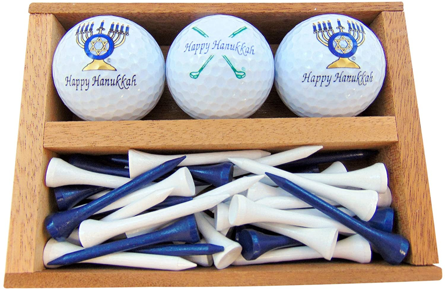 Primary image for Westmon Works Happy Hanukkah Golf Gift Set Menorah and Clubs Set of 3 Balls